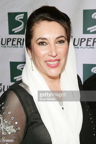 Former Prime Minister of Pakistan Benazir Bhutto attends the 3rd Annual Women's World Awards at Hammerstein Ballroom October 14 2006 in New York City