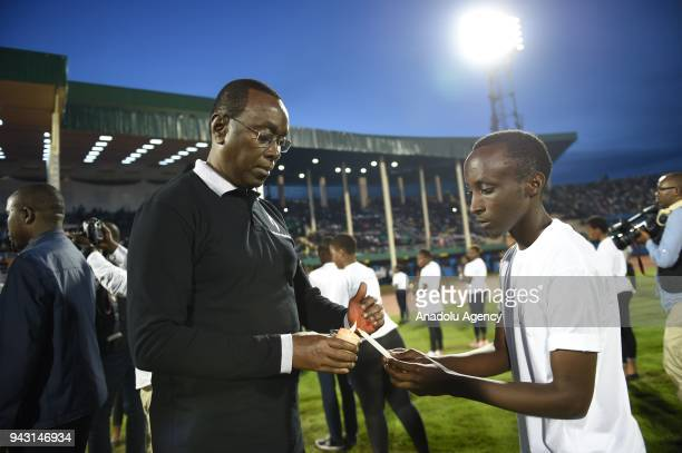 Former Prime Minister of Rwanda Bernard Makuza attends a commemoration ceremony of 24th anniversary of 1994 genocide at Amahoro Stadium in Kigali...