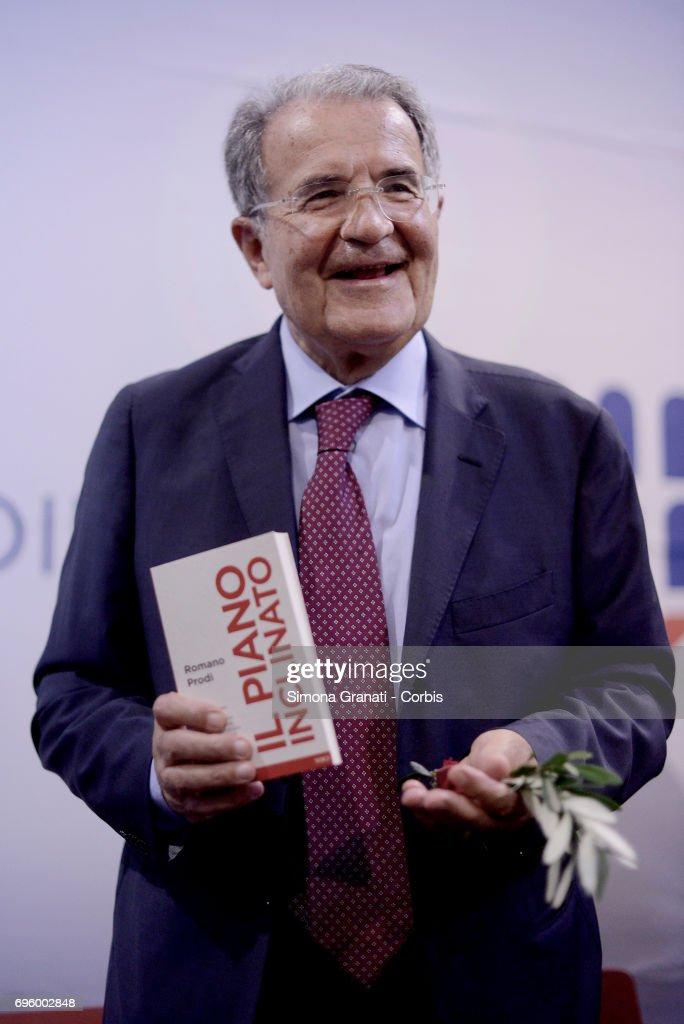 """Former Prime Minister Romano Prodi """"Il Piano Inclinato"""" Book Launch"""