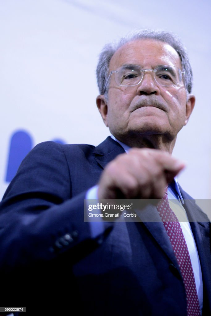 "Former Prime Minister Romano Prodi ""Il Piano Inclinato"" Book Launch"