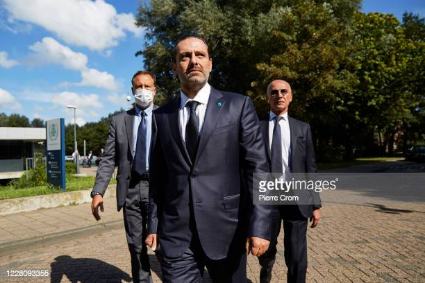 Former Prime Minister Saad Hariri leaves the Lebanon Tribunal on August 18, 2020 in The Hague, Netherlands. The Special Tribunal for Lebanon...