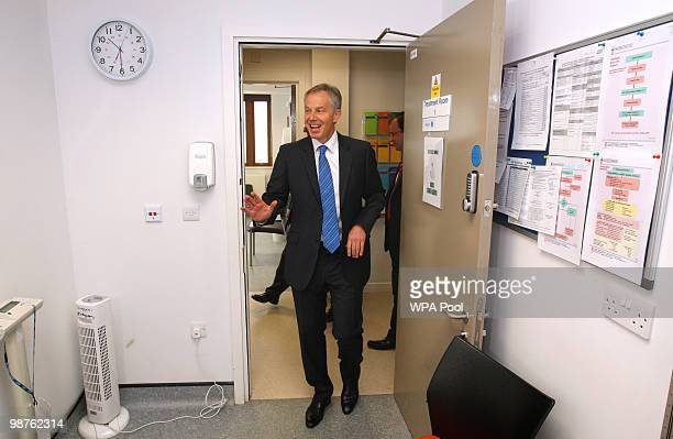 Former Prime Minister Tony Blair during a visit to Alexandra Avenue Health and Social Care Centre in Harrow as he returned to the Labour campaign...