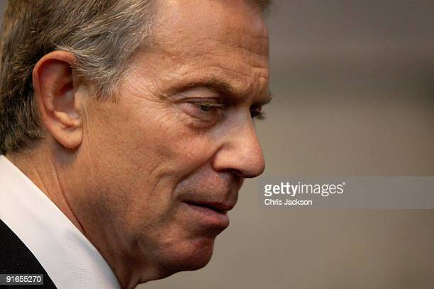 Former Prime Minister Tony Blair looks on during a reception at London Guildhall after a Service of Commemoration to mark the end of combat...