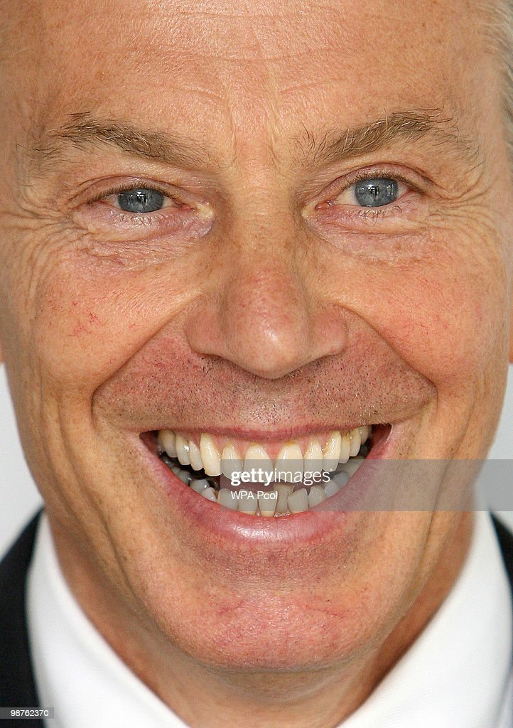 Former Prime Minister Tony Blair smiles during a visit to Alexandra Avenue Health and Social Care Centre in Harrow as he returned to the Labour campaign trail on April 30, 2010 in London, England. The General Election, to be held on May 6, 2010, is set to be one of the most closely fought political contests in recent times with all main party leaders embarking on a four week campaign to win the votes of the United Kingdom electorate.