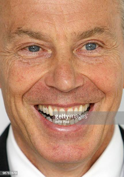 Former Prime Minister Tony Blair smiles during a visit to Alexandra Avenue Health and Social Care Centre in Harrow as he returned to the Labour...