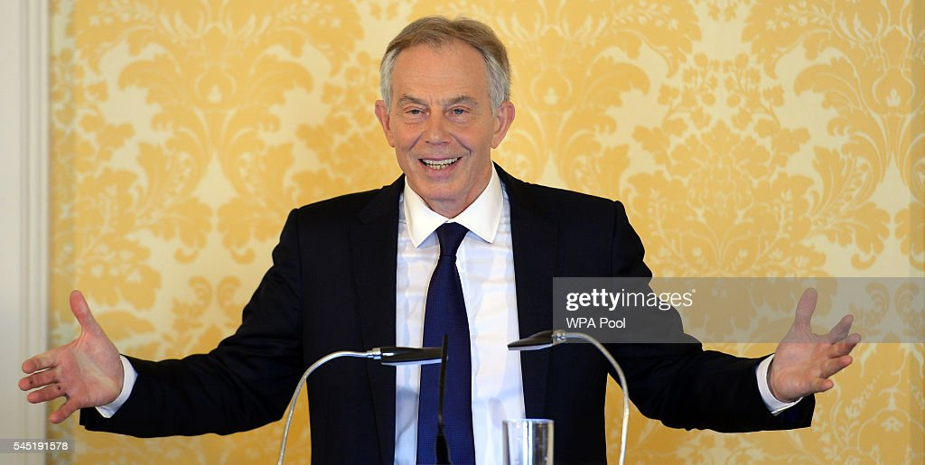 Former Prime Minister Tony Blair On The Day The Chilcot Inquiry Into The Iraq War Is Published