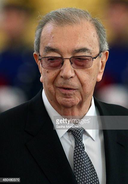 Former Prime Minister Yevgeny Primakov is seen as he attends the State Awards Ceremony during celebration of the Day of Russia at the Grand Kremlin...