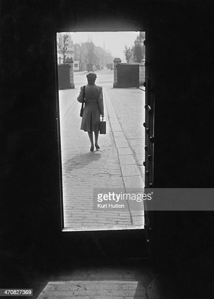 A former prisoner leaves Holloway Prison north London at the 8 am release time March 1947 Built in 1852 HM Prison Holloway became a femaleonly prison...