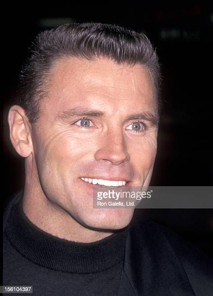 Former Pro Football Player/NFL Analyst Howie Long attends the 'Firestorm' Westwood Premiere on January 7 1998 at Mann National Theatre in Westwood...