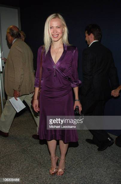 Former Pro Ice Skater Oksana Baiul arrives to a special NY screening of Feast of Love outside the Dolby 88 Screening Room in New York City on...