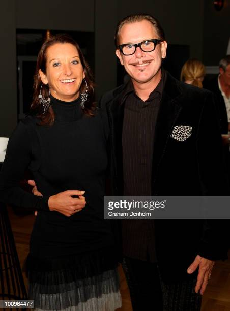Former pro surfer Layne Beachley and her husband Kirk Pengilly attend the opening party for new restaurant Manly Pavilion at Manly's West Esplanade...