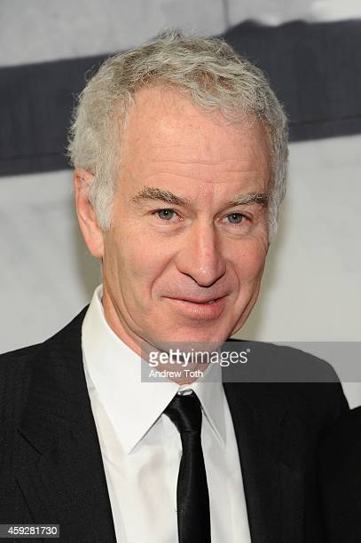 Former pro tennis player and TV sports personality John McEnroe attends The Whitney Museum Of American Art's 2014 Gala Studio Party at The Whitney...