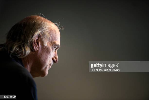 Former pro wrestler Jesse Ventura pauses while speaking about his book They Killed Our President October 4 2013 in Washington DC Ventura who is...