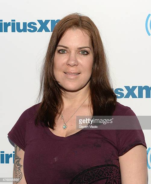 Former Pro wrestler/actress Joanie Chyna Laurer visits SiriusXM Studios on June 10 2015 in New York City
