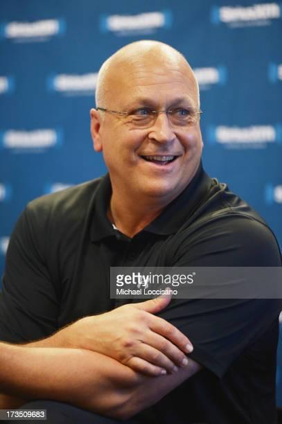 Former Professional Baseball Player Cal Ripken Jr appears on SiriusXM Radio at MLB AllStar fan Fest at Jacob Javitz Center on July 15 2013 in New...