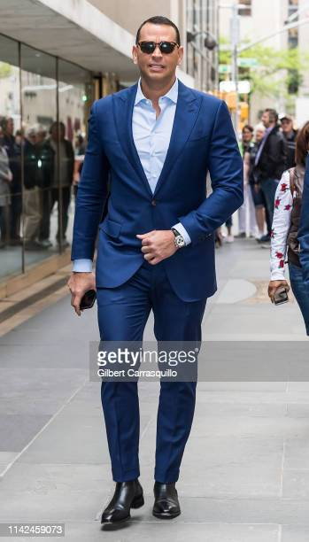 Former professional baseball shortstop and third baseman Alex Rodriguez is seen on May 09, 2019 in New York City.