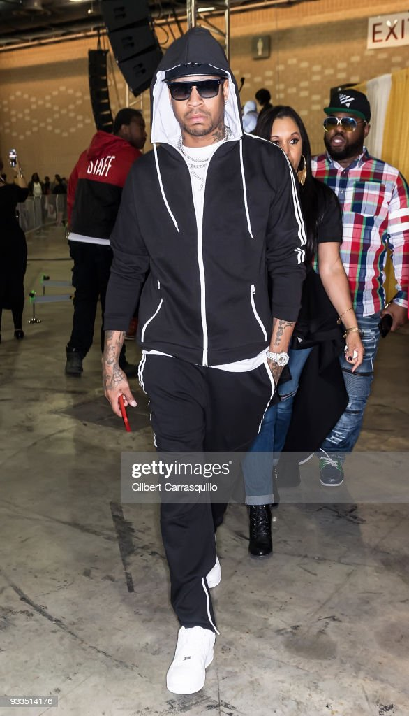 Former professional basketball player Allen Iverson attends the Be Expo 2018 at Pennsylvania Convention Center on March 17, 2018 in Philadelphia, Pennsylvania.