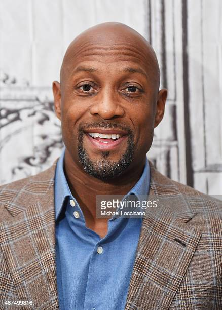 Former professional basketball player Alonzo Mourning takes part in the AOL BUILD Speaker Series at AOL Studios on March 25 2015 in New York City