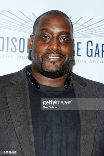 Former professional basketball player Anthony Mason attends the Madison Square Garden Transformation Unveiling at Madison Square Garden on October...