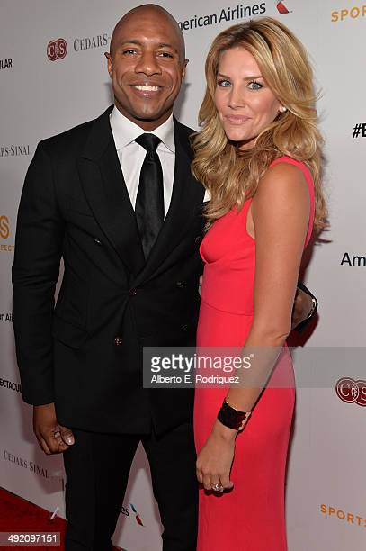 Former professional basketball player Jay Williams and sportscaster Charissa Thompson arrive on the red carpet at the 2014 Sports Spectacular Gala at...