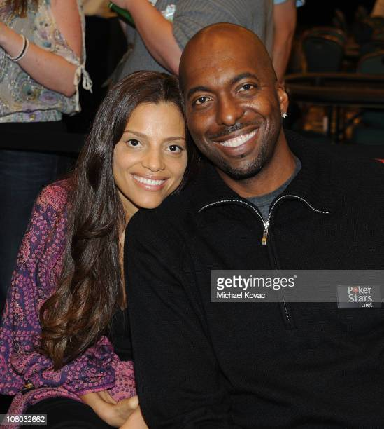 Former professional basketball player John Salley and wife Natasha Salley attend the 2011 PokerStars Caribbean Adventure at Atlantis Paradise Island...