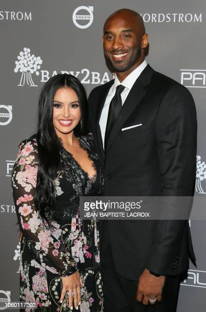 Former professional basketball player Kobe Bryant and his wife Vanessa Laine Bryant attend the 2018 Baby2Baby Gala presented by Paul Mitchell at...