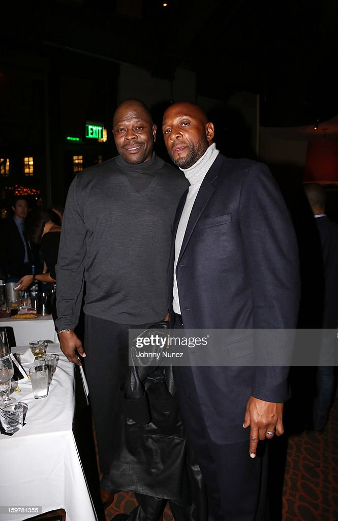 Former professional basketball players Patrick Ewing and Alonzo Mourning attend the After@inauguration Celebration on January 19, 2013 in Washington, United States.