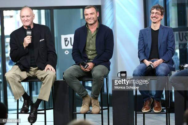 Former professional boxer Chuck Wepner, actor, writer and producer Liev Schreiber, and director Philippe Falardeau speak on stage at Build Series...