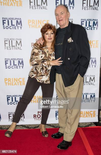 Former professional boxer Chuck Wepner and wife Linda Wepner attend 'Chuck' Philadelphia Screening at The Prince Theater on May 11 2017 in...