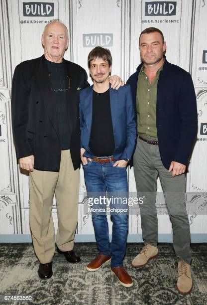 Former professional boxer Chuck Wepner, director Philippe Falardeau and actor, writer and producer Liev Schreiber attend Build Series Presents Liev...