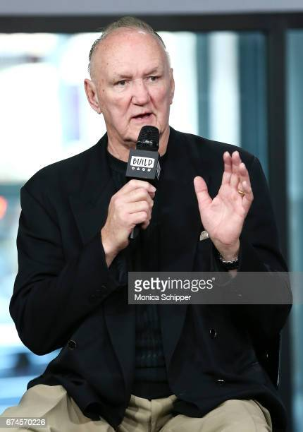 Former professional boxer Chuck Wepner speaks on stage at Build Series Presents Liev Schreiber, Philippe Falardeau and Chuck Wepner Discussing...