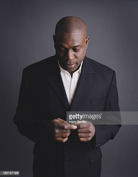 Former professional boxer Frank bruno is photographed for Random House publishing in London United Kingdom