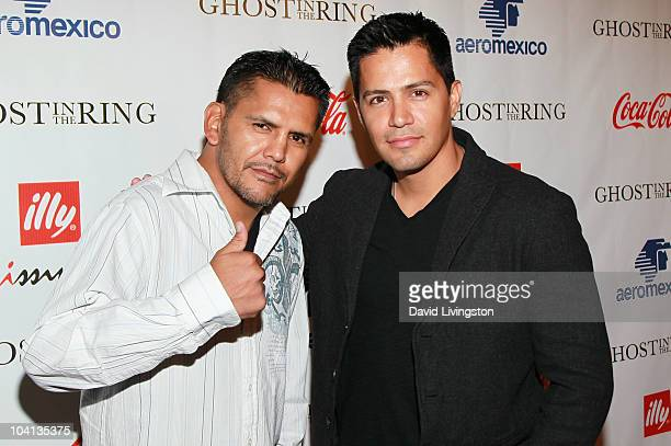 Former professional boxer Gabriel Ruelas and actor Jay Hernandez attend Coca Cola's 200th Anniversary of Mexico's Independence Celebration at W...