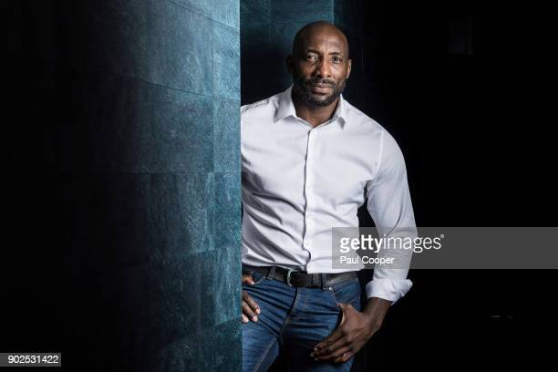 Former professional boxer Johnny Nelson is photographed for the Daily Mail on August 11 2017 in Manchester England