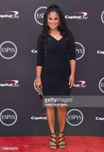 Former professional boxer Laila Ali attends The 2018 ESPYS at Microsoft Theater on July 18 2018 in Los Angeles California