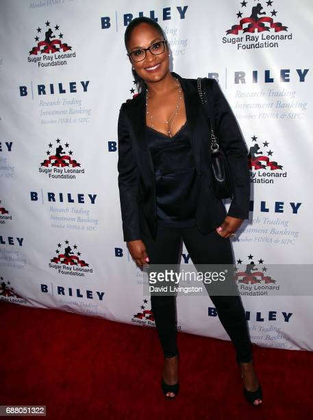 Former professional boxer Laila Ali attends the 8th Annual Big Fighters Big Cause Charity Boxing Night at the Loews Santa Monica Beach Hotel on May...