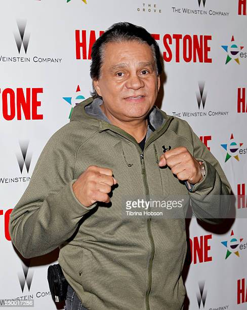 Former professional boxer Roberto Duran attends the screening of 'Hands of Stone' at Pacific Theatres at The Grove on August 15 2016 in Los Angeles...