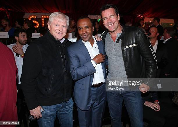 Former professional boxer Sugar Ray Leonard David James Elliott and guest attend the B Riley Co and Sugar Ray Leonard Foundation's 5th Annual Big...