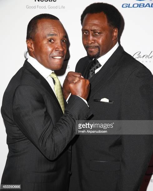 Former professional boxers Sugar Ray Leonard and Thomas Hearns attend the 14th Annual Harold Carole Pump Foundation Gala at the Hyatt Regency Century...