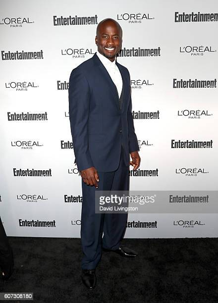 Former professional football player Akbar Gbajabiamila attends Entertainment Weekly's 2016 PreEmmy Party at Nightingale Plaza on September 16 2016 in...