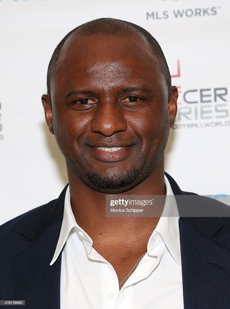 Former professional football player and Western Union Pass Ambassador, Patrick Vieira, attends the Beyond Soccer Series Powered By streetfootballworld at Thomson Reuters Building on June 22, 2015 in New York City.