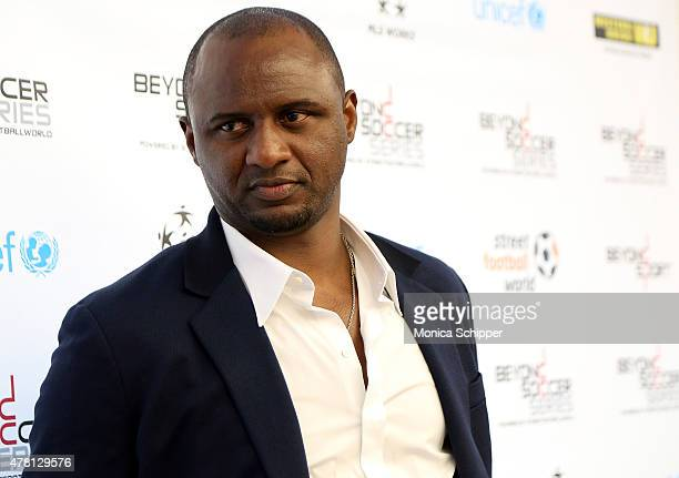 Former professional football player and Western Union Pass Ambassador Patrick Vieira attends the Beyond Soccer Series Powered By streetfootballworld...
