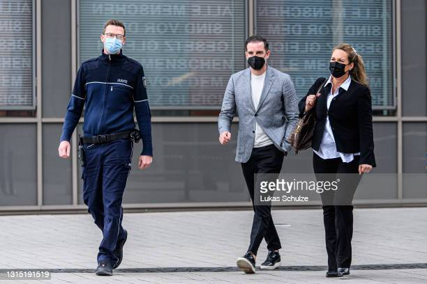 Former professional football player Christoph Metzelder leaves the district court after he is sentenced to 10 month of probation after his trial on...