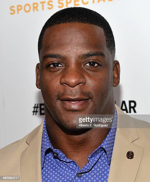 Former professional football player Clinton Portis arrives on the red carpet at the 2014 Sports Spectacular Gala at the Hyatt Regency Century Plaza...