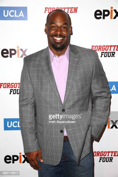 Former professional football player Donovan McNabb attends the 'Forgotten Four The Integration Of Pro Football' screening presented by EPIX UCLA at...
