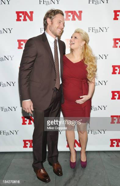 Former professional football player Eric Johnson and recording artist/actress Jessica Simpson attend the 25th Annual Footwear News Achievement Awards...