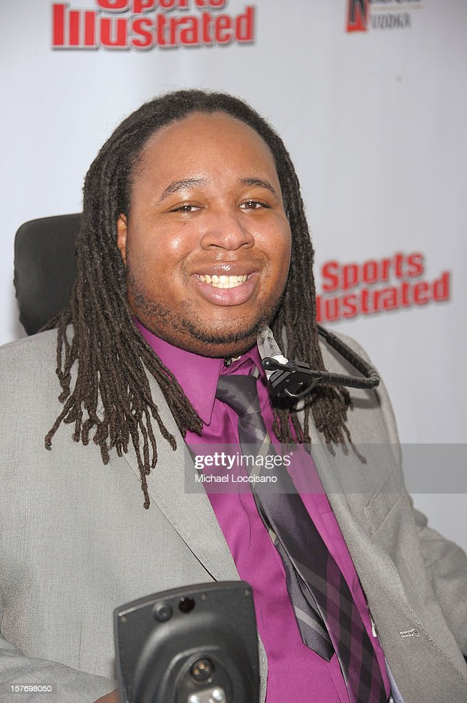 Former professional football player Eric LeGrand attends the 2012 Sports Illustrated Sportsman of the Year award presentation at Espace on December 5, 2012 in New York City.