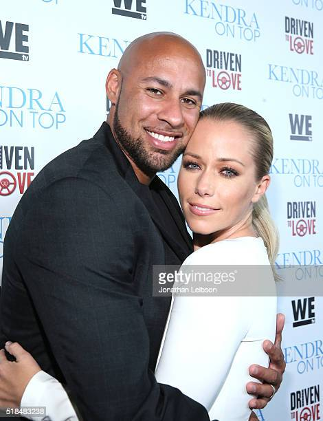 Former professional football player Hank Baskett and TV personality Kendra Wilkinson attend WE tv's premiere of Kendra On Top and Driven To Love at...