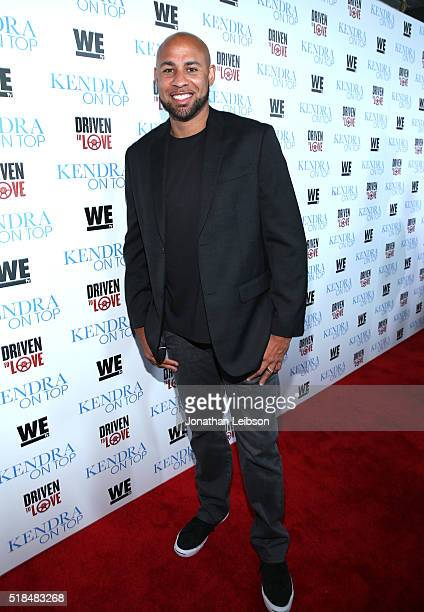 """Former professional football player Hank Baskett attends WE tv's premiere of """"Kendra On Top"""" and """"Driven To Love"""" at Estrella Sunset on March 31,..."""