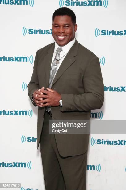 Former professional football player Herschel Walker visits the SiriusXM Studios on November 20, 2017 in New York City.